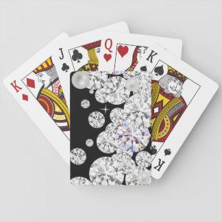 Baralho Cartões de jogo clássicos, diamante do brilho
