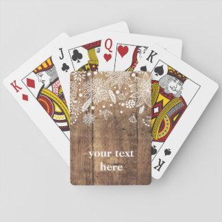 Baralho Cartões de jogo clássicos, floral rústico de
