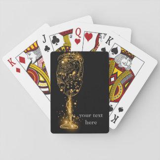Baralho Cartões de jogo clássicos, vinho do brilho