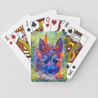 Baralho Cartões de jogo coloridos do filhote de cachorro