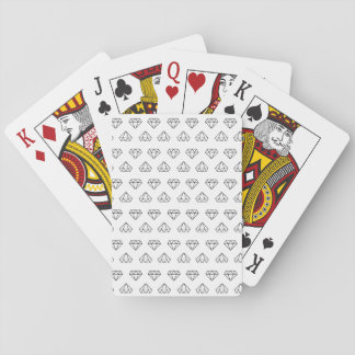 Baralho Cartões de jogo do teste padrão do diamante