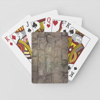Baralho Cartões de jogo do tijolo, caras padrão do índice