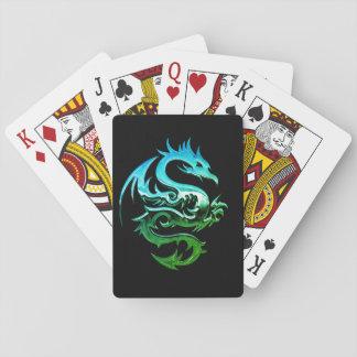 Baralho Cartões de jogo ferozes do dragão do cromo