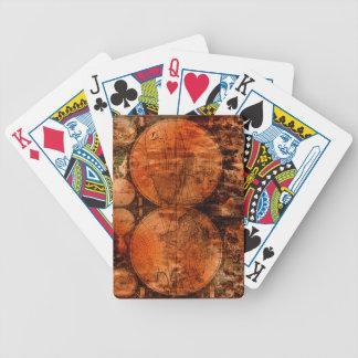 Baralho De Truco Cartões de jogo rústicos do desenhista do mapa de