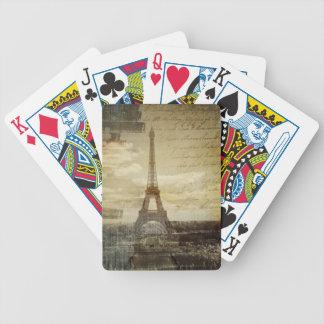 Baralho De Truco o francês scripts a torre Eiffel moderna de Paris