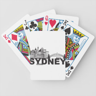 Baralho Esboço do texto de Sydney Austrália Sklyine