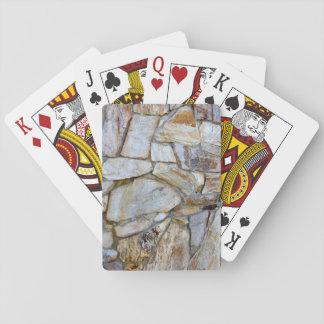 Baralho Foto da textura da parede da rocha em cartões de