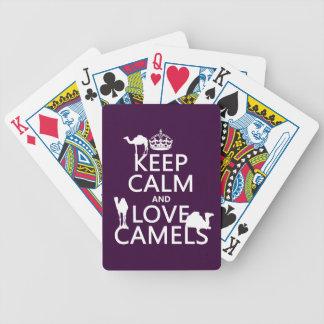 Baralho Mantenha a calma e ame camelos (todas as cores)