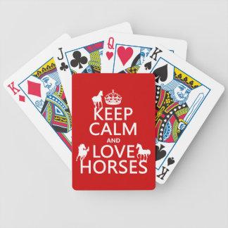 Baralho Mantenha a calma e ame cavalos - todas as cores