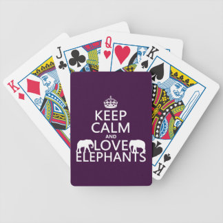 Baralho Mantenha a calma e ame elefantes (alguma cor)