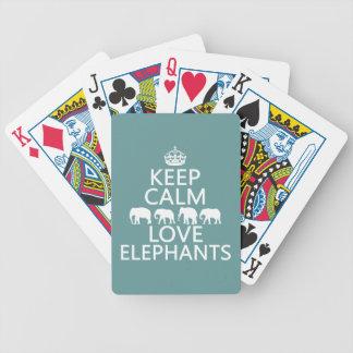 Baralho Mantenha a calma e ame elefantes (as cores