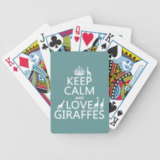 Baralho Mantenha a calma e ame girafas (alguma cor)