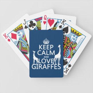 Baralho Mantenha a calma e ame girafas - todas as cores