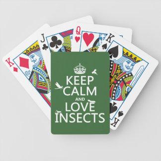Baralho Mantenha a calma e ame insetos (alguma cor do