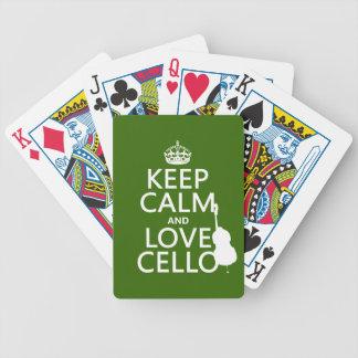 Baralho Mantenha a calma e ame o violoncelo (alguma cor do