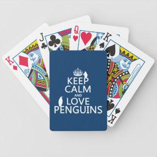 Baralho Mantenha a calma e ame pinguins (alguma cor)