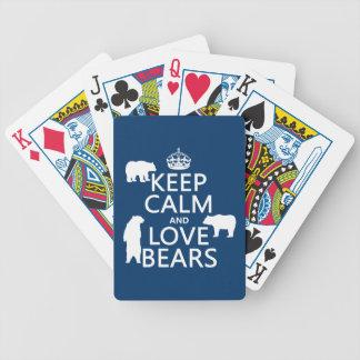 Baralho Mantenha a calma e ame ursos (em todas as cores)