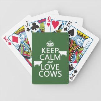 Baralho Mantenha a calma e ame vacas (todas as cores)