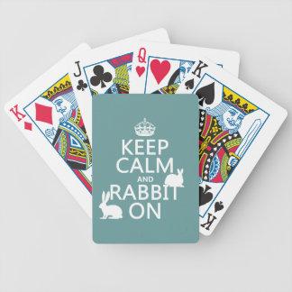 Baralho Mantenha a calma e o coelho sobre - todas as cores