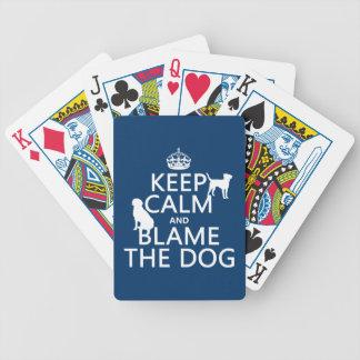 Baralho Mantenha a calma e responsabilize o cão - todas as