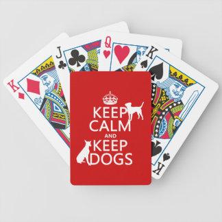 Baralho Mantenha calmo e mantenha cães - todas as cores