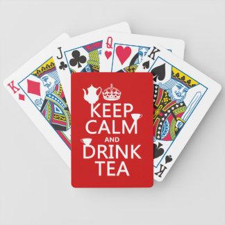 Baralho Mantenha chá calmo e da bebida - todas as cores