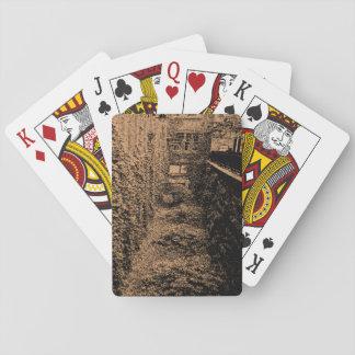 Baralho Os cartões de jogo - cena do tijolo & da hera -