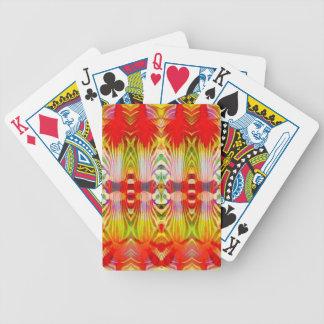 Baralho Para Poker Amarelo vermelho psicadélico