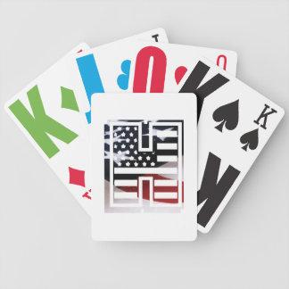 Baralho Para Poker Bandeira patriótica dos EUA da inicial do