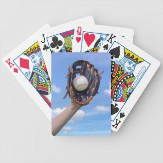 Baralho Para Poker Basebol da terra arrendada de braço com a luva em
