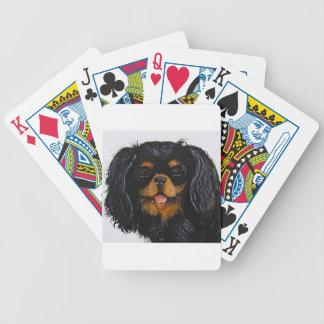 Baralho Para Poker Preto e tan do rei Charles Cavalier Spaniel