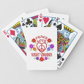 Baralho Para Pôquer Amor West Virginia da paz