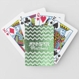 Baralho Para Pôquer Cartões de jogo Glittery do teste padrão de