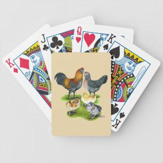 Baralho Para Pôquer Família da galinha de Ameraucana