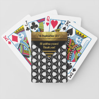 Baralhos De Poker 50 anos dourados! Obrigado!