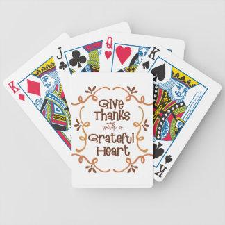 Baralhos De Poker Dê obrigados com um coração grato
