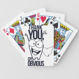 Baralhos De Poker obrigado que os pct óbvios refrigeram o design