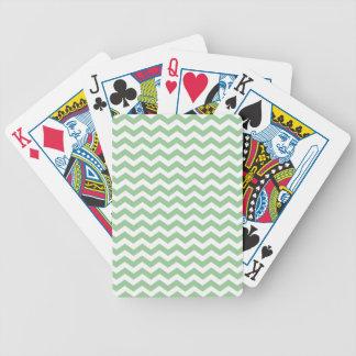 Baralhos De Poker Teste padrão de ziguezague na moda da viga do
