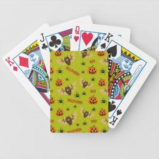 Baralhos De Poker Teste padrão do bastão, da abóbora e da aranha