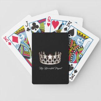 Baralhos De Pôquer A senhorita EUA denomina cartões de jogo feitos