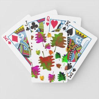 Baralhos De Pôquer Aguarela engraçada das folhas