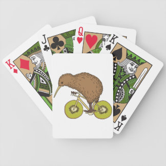 Baralhos De Pôquer Bicicleta da equitação do quivi com rodas do quivi
