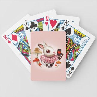 Baralhos De Pôquer Cartões de jogo brancos do coelho