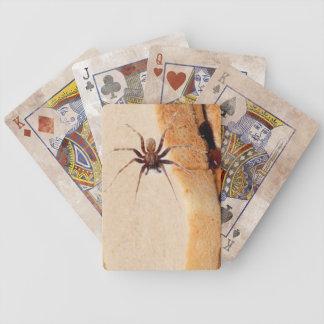 Baralhos Para Poker Aranha em cartões de jogo do sanduíche de P&J