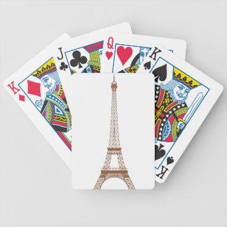 Baralhos Para Poker Desenhos animados da torre Eiffel
