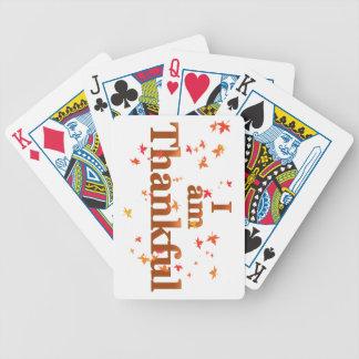 Baralhos Para Pôquer eu sou grato