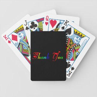 Baralhos Para Pôquer Obrigado com corações vermelhos 0433