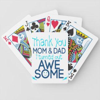 Baralhos Para Pôquer obrigado mamã e pai que eu despejei impressionante