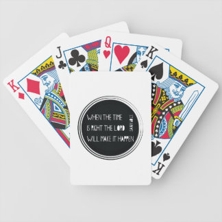 Baralhos Para Pôquer Quando o tempo for direito…