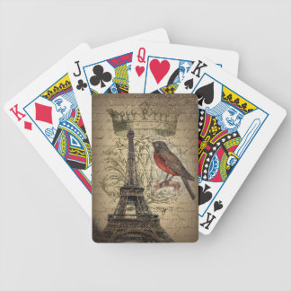 Baralhos Para Pôquer Torre Eiffel moderna de Paris do vintage do